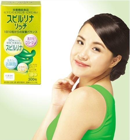 Tảo vàng spirulina Nhật Bản 600 viên