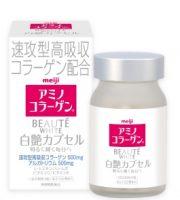 Viên uống làm trắng da collagen meiji beaute Nhật Bản