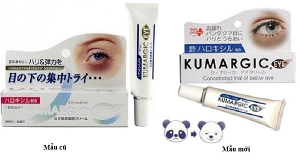 Phân biệt Kem trị thâm quầng mắt Kumargic Eye