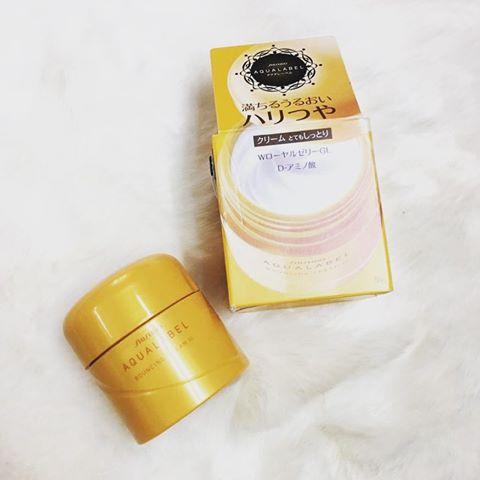 Shiseido Aqualabel Cream Ex màu vàng