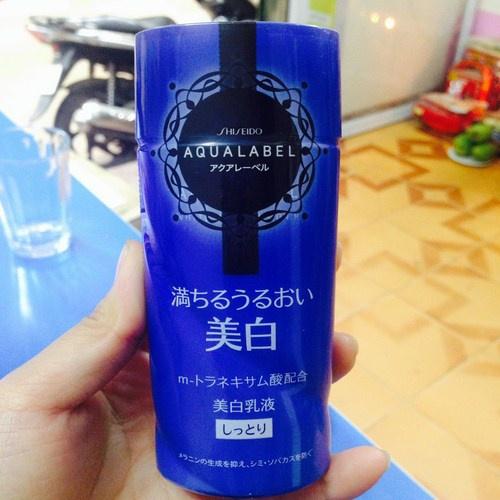 Công dụng Shiseido Aqualabel White Up Emulsion màu xanh