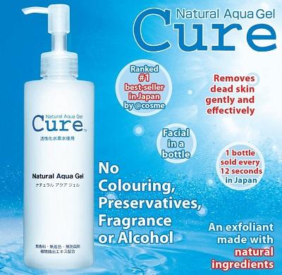 Cure Natural Aqua Gel giúp tẩy tế bào chết cực hiệu quả