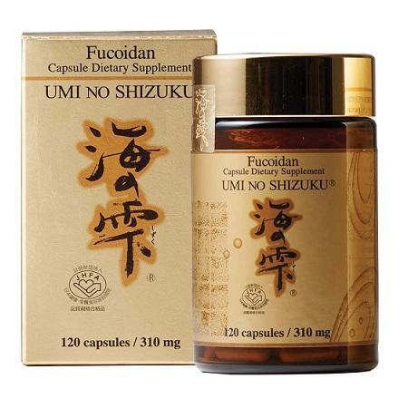 Fucoidan Umi No Shizuku Nhật Bản Hỗ Trợ Điều Trị Ung Thư với 3 thành phần Tảo Mekabu, Muzuku và Nấm Agaricus